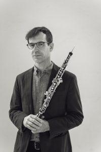 Kyle Bruckmann, oboe | B&W | photo credit Lenny Gonzalez